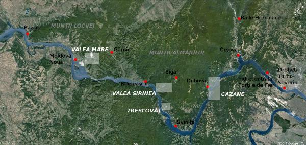 Clisura Dunării Defileul Dunării Zona Porţile De Fier